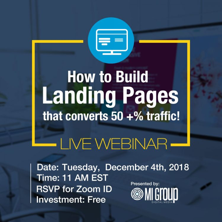 Webinar: Build Landing Pages that Converts 50+% Traffic. My Deals Today